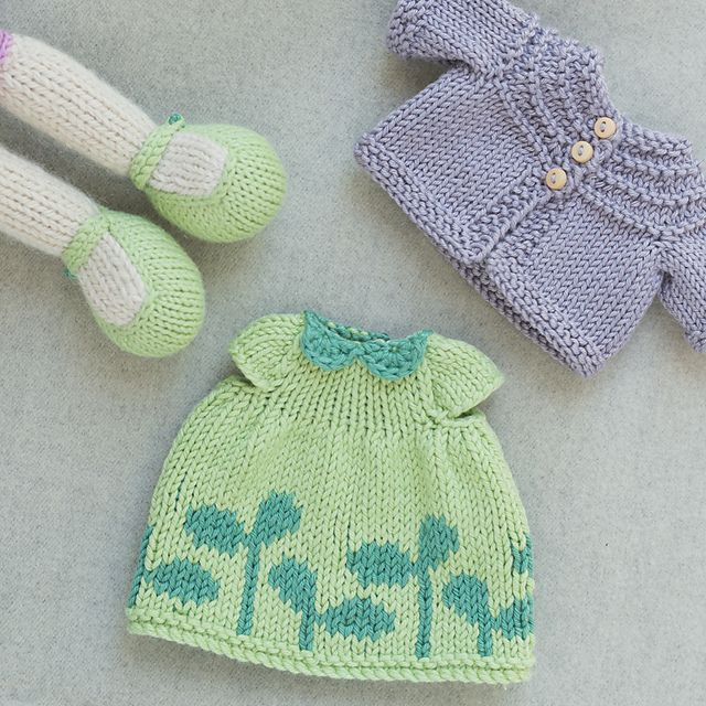 Knit from Little Cotton Rabbits patterns: Seasonal Dresses and Seasonal Sweaters