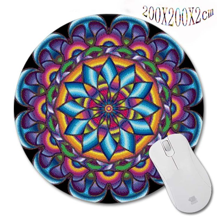 New Arrivals 200*200*2mm Print Persian Carpet Style Design Round Mouse Pad  Antiskid