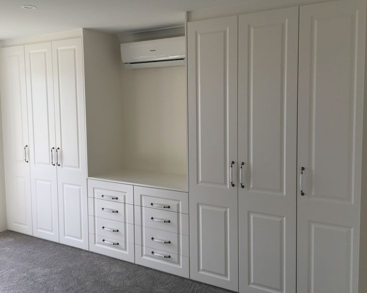 Fabulous white painted Built in Wardrobe with Dressing Table Timeless elegance Alliance Robes