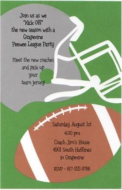 Football party invitationFootball Parties Invitations, Birthday Parties, Football Party Invites, Art Football, Invitations Football Parties, Football Party Invitations, Parties Ideas, Birthday Ideas, Invitations Footballl Parties
