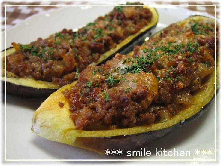 ✿なすの簡単ミートソース詰め焼き✿ by 3匹の子ブタmama [クックパッド] 簡単おいしいみんなのレシピが273万品