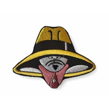 SPION PATCH, BÜGELBILD  CA. 80MM, BUNT - (#Aufbügler C139)... patch, #bügelbild, #applikation, #fashion, #aufbügler, #pimp, #stick, #aufnäher, #symbol, #livestyle, #streetwear, #spion, #spy, #schatten