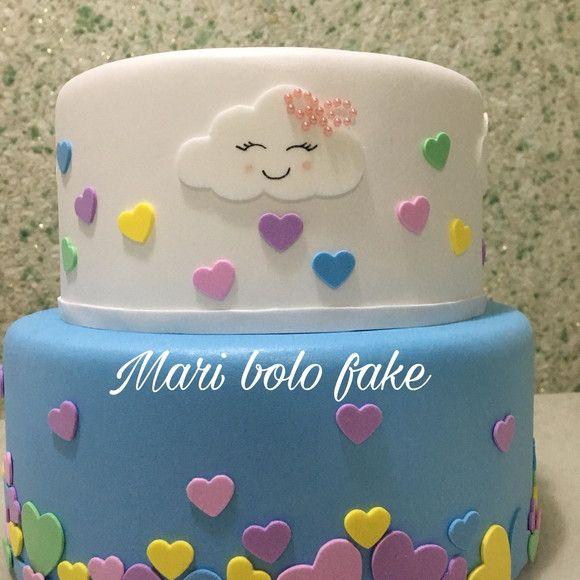 Bolo Fake Chuva De Amor Com Imagens Chuva De Amor Bolo Chuva