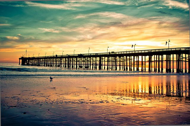 Ventura Pier, California, by Jaime973.; many moments spent on this pier...