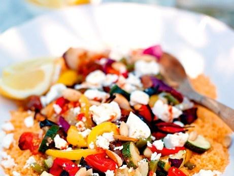 Couscoussallad med rostade grönsaker