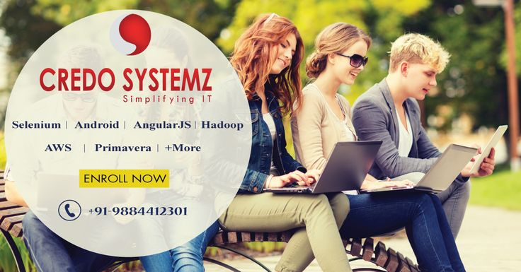 Learn the Latest Trending Technologies from experts in #Credosystemz. Learn the future technologies such as #AWS #BigData #Python #ASPDotNET #MVC #AngularJS #Angular2 #Selenium #Primavera and much more. Our career consultant team are waiting to hear from YOU. Book your FREE DEMO session now +91 - 9884412301. #Traininginchennai #Trainingandplacementsinchennai #Realtimetraininginchennai #Certificationtraining #Credosystemz
