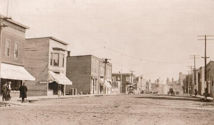 l'anse bay michigan Indians  | 1900's picture of Main Street in L'Anse looking north.
