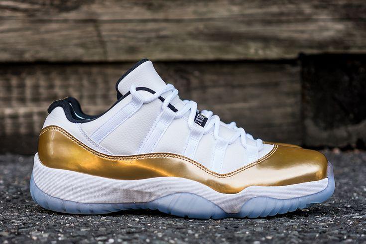 "Air Jordan 11 Retro Low ""Metallic Gold"" (Release Reminder & Detailed Pics) - EU Kicks: Sneaker Magazine"