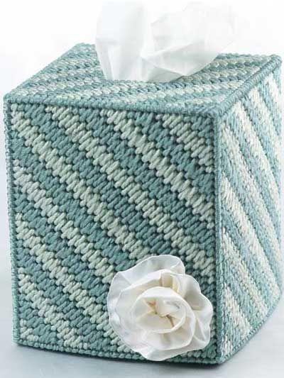 Plastic Canvas Mosaic Stitch Tissue Box Cover