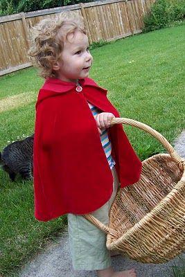 Little Red Riding Hood. DIY cape @Carol Spears