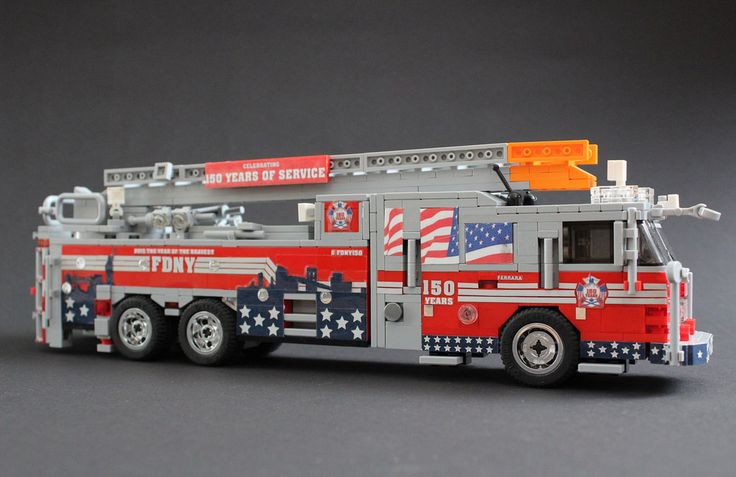 """FDNY 150th Anniversary Truck"" by sponki25: Pimped from Flickr"