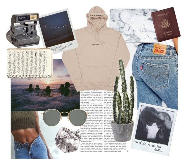 """""""Inspired by TUMBLR"""" by fiejust on Polyvore featuring Levi's, Ray-Ban and Royce Leather"""