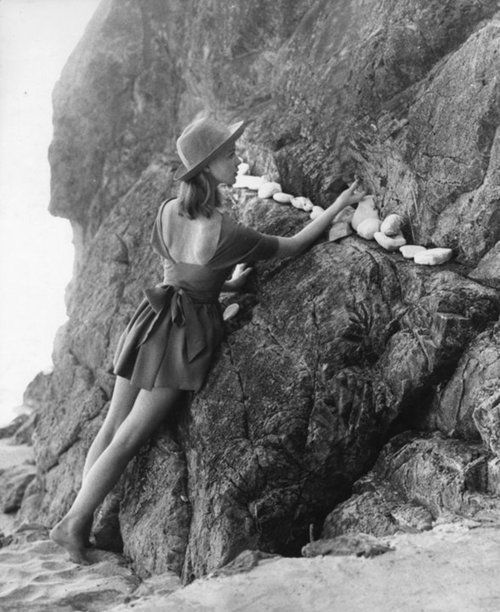 'Rock Garden' - fashion photography by Tom Palumbo, 1950s.