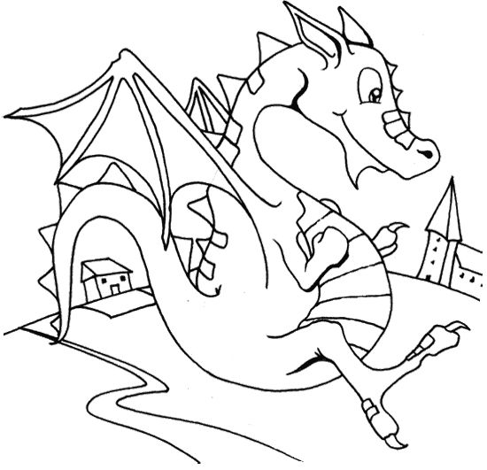 Flying Dragon Coloring Page Dragons Dragon Coloring