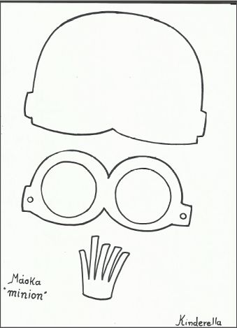 minion mask template - minion template google and minions on pinterest
