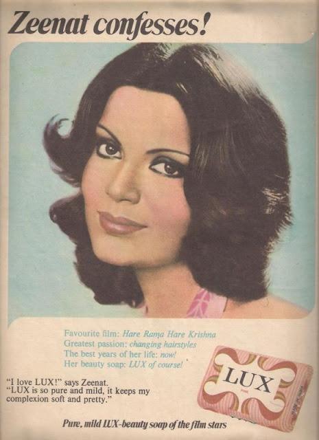 Vintage Lux Ads - Zeenat Aman  Zeenat Confesses :) :)