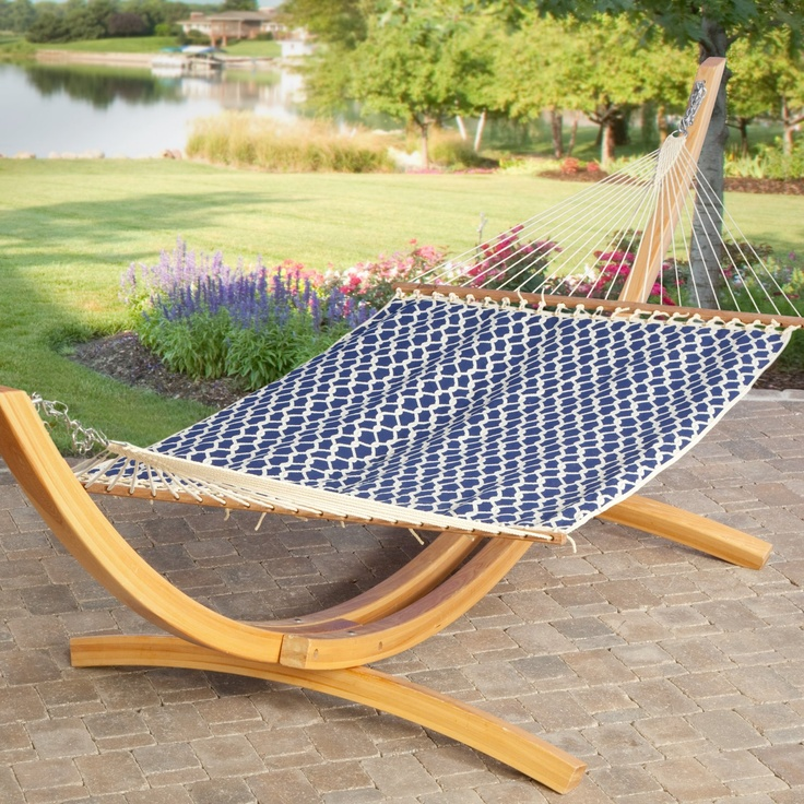 I Would Like One Of These Wooden Stand Hammocks For Pool
