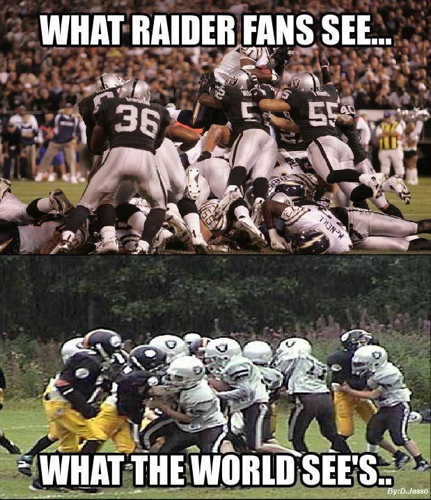 funny raiders pics | Oakland Raiders | NFL Memes, Sports Memes, Funny Memes, Football Memes ...