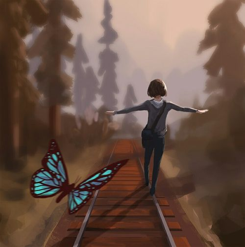 Imagen de girl, butterfly, and life is strange