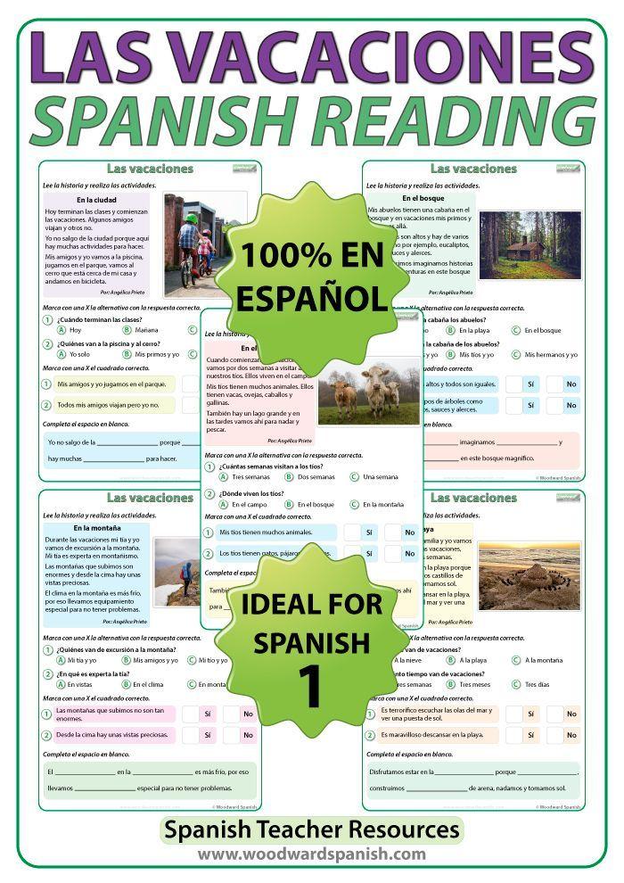 las vacaciones spanish essay Choose from 500 different sets of spanish writing phrases flashcards on quizlet  essay writing phrases (spanish)  en las vacaciones de semana santa/ navi .