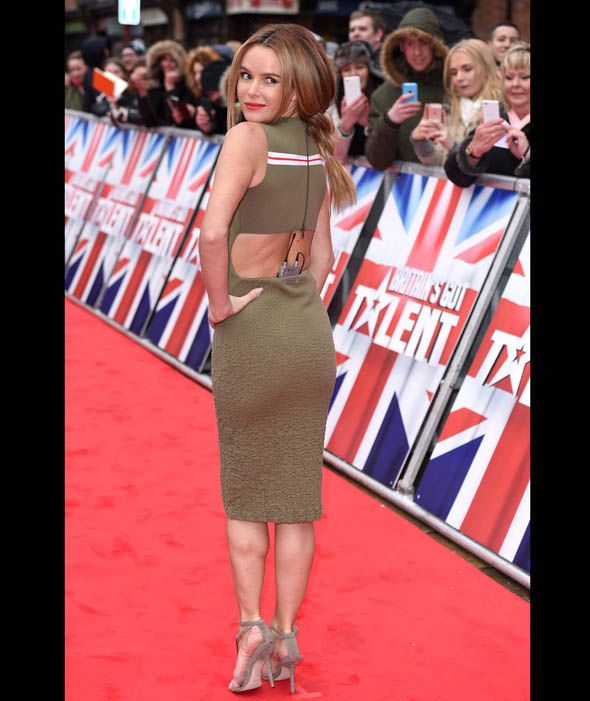 Amanda Holden reveals her back in cut out green dress at the Britain's Got Talent Birmingham auditions