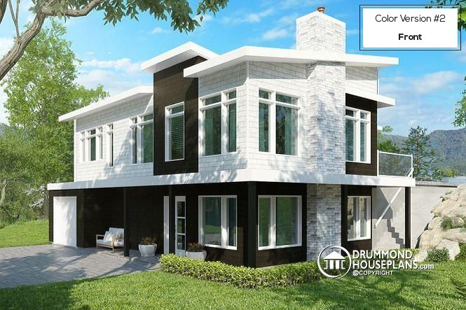 17 best images about modern house plans contemporary for Bi generation house plans