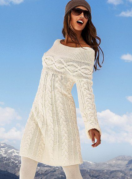 Cable Babydoll Sweater Dress at:  http://www.victoriassecret.com