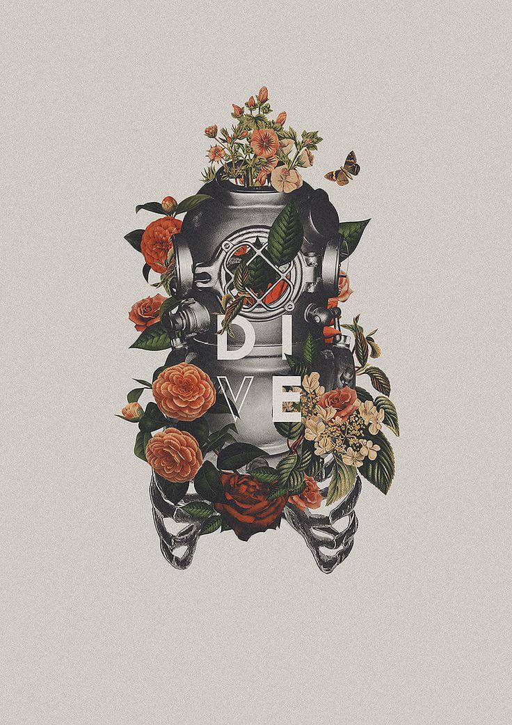 D I V E Poster Lettering By Ricardo Garcia