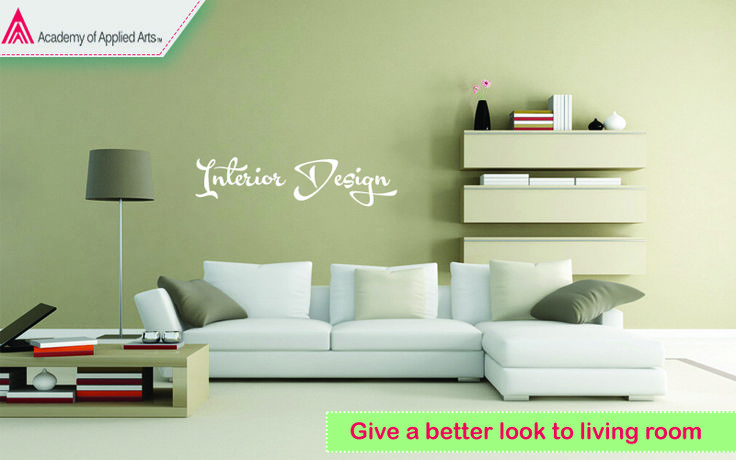 We teach you how to give a better look to living room by Interior Design. For more visit http://www.academyofappliedarts.com/interior-design/