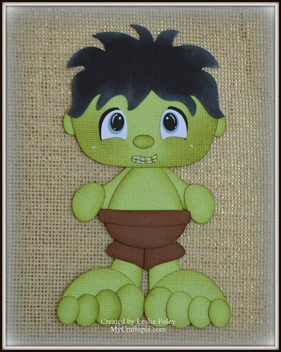 Hulk Super Hero Avenders Premade Scrapbooking by MyCraftopia