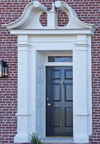 17 best images about door and window trim on pinterest for Exterior door pediment and pilasters