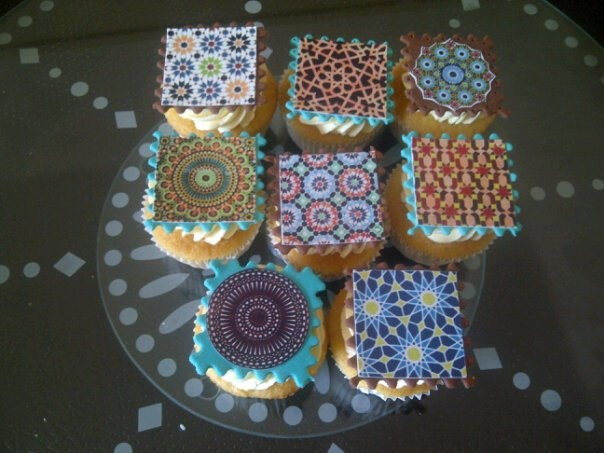 Moroccan themed cupcakes #blueplatecater