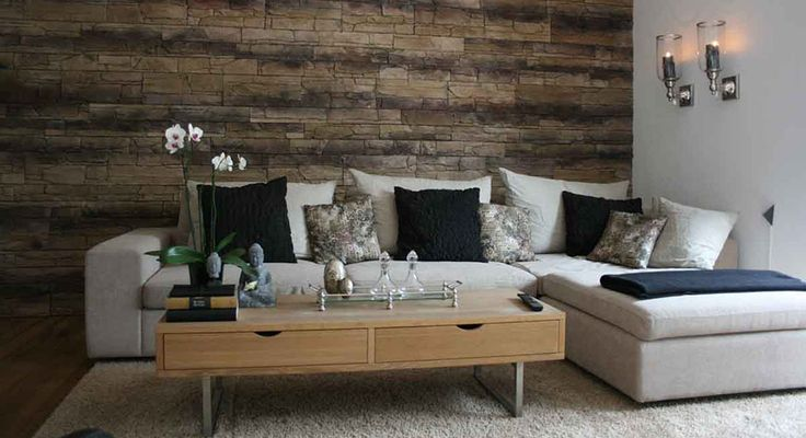 die besten 25 steinwand verblender ideen auf pinterest steinwand innen mauer mit fernseher. Black Bedroom Furniture Sets. Home Design Ideas