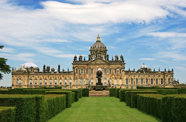 Castle Howard...Yorkshire, UK. Seriously beautiful architecture...  and inside, OH MY!