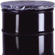30 gallon 4 mil drum cover dust caps with an elastic fit plastic cover protect contents of a 30 gallon bucket from contaminants such as water, grease, dust, and other outside elements. These drum covers .004 are low density poly covers used for covering and protecting drums, pails, and containers that are packaging products such as foods, chemicals, pharmaceuticals, as well as many other industrial packaging applications. Plastic drum covers for a 30 gallon drum extend the life of containers