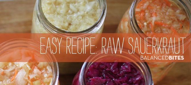 Raw Sauerkraut :: I have never in my life tried to ferment anything, but might give this one a try. I LOVE sauerkraut!