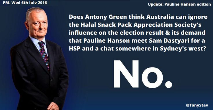 The Halal Snack Pack is taking Australia by storm and ABC's Antony Green reckons in a federal election too close to call, this casual community of meat munchers is becoming increasingly influentiall - perhaps deciding Election 2016 #AusVotes #Auspol