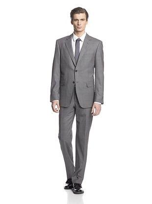 -26,900% OFF Cerruti 1881 Men's Drop 7 Classic Fit Suit (Grey Plaid)