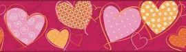Eijffinger Hits for Kids 307065 behangrand met harten | Hartjes behang | Behang bestel je online bij Behangexpert !