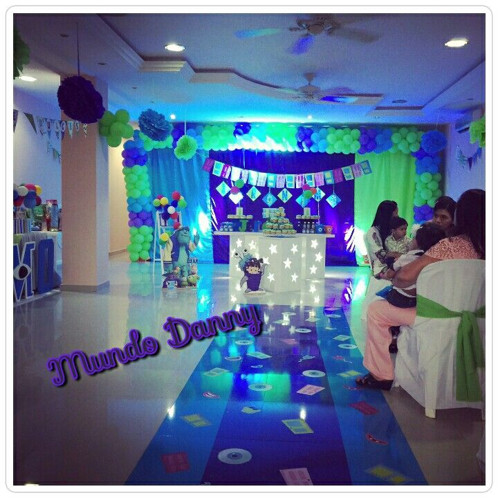 Monster party theme. Monster inc. Monstros sa. Fiesta temática Monster inc
