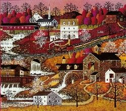 """Waterfall Valley"" by Charles Wysocki"