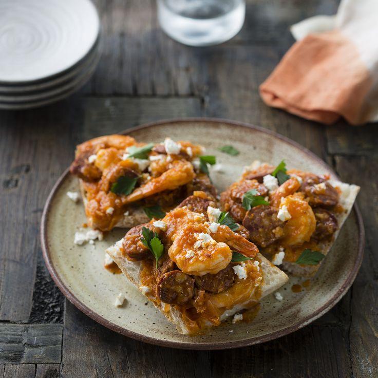 "Thermomix   Chorizo and prawn a la sidra   Entertaining with Dani Valent cookbook + recipe chip   ""Spanish"" menu plan  "