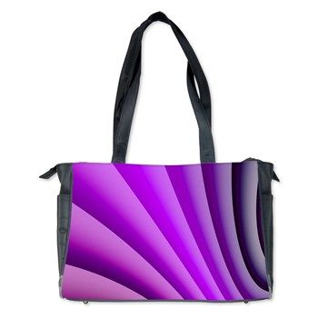 Pretty Purple Fabric Folds Diaper Bag