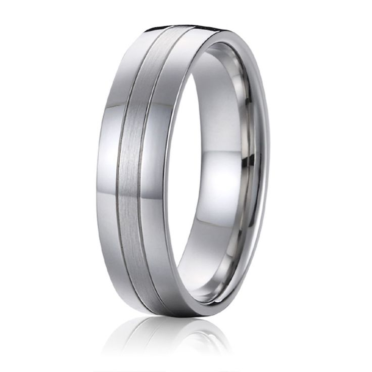 Top quality Classic Europe Western design White Gold Style aircraft grade titanium wedding bands promise rings for men