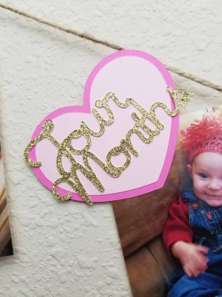 Excited to share the latest addition to my #etsy shop: First Year Photo Label | Monthly Photos | 1-12 Month | Baby Growth Tracker | First Birthday | Gold Birthday | Heart Birthday #goldparty #firstbirthday #goldandpink #glitter