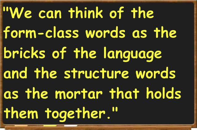 A word class is a set of words that display the same formal properties…