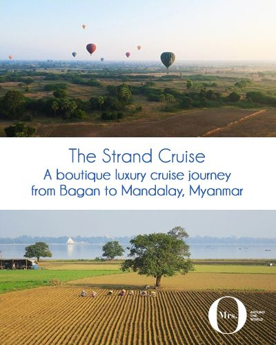 The Strand Cruise - A Boutique Luxury Cruise Journey from Bagan to Mandalay, Myanmar: All excursions and activities (except spa treatments, of course) are included except the hot air ballooning in Bagan. We did this on the first day and loved it! Every day we had excursions organised for us, always with a different type of transportation!