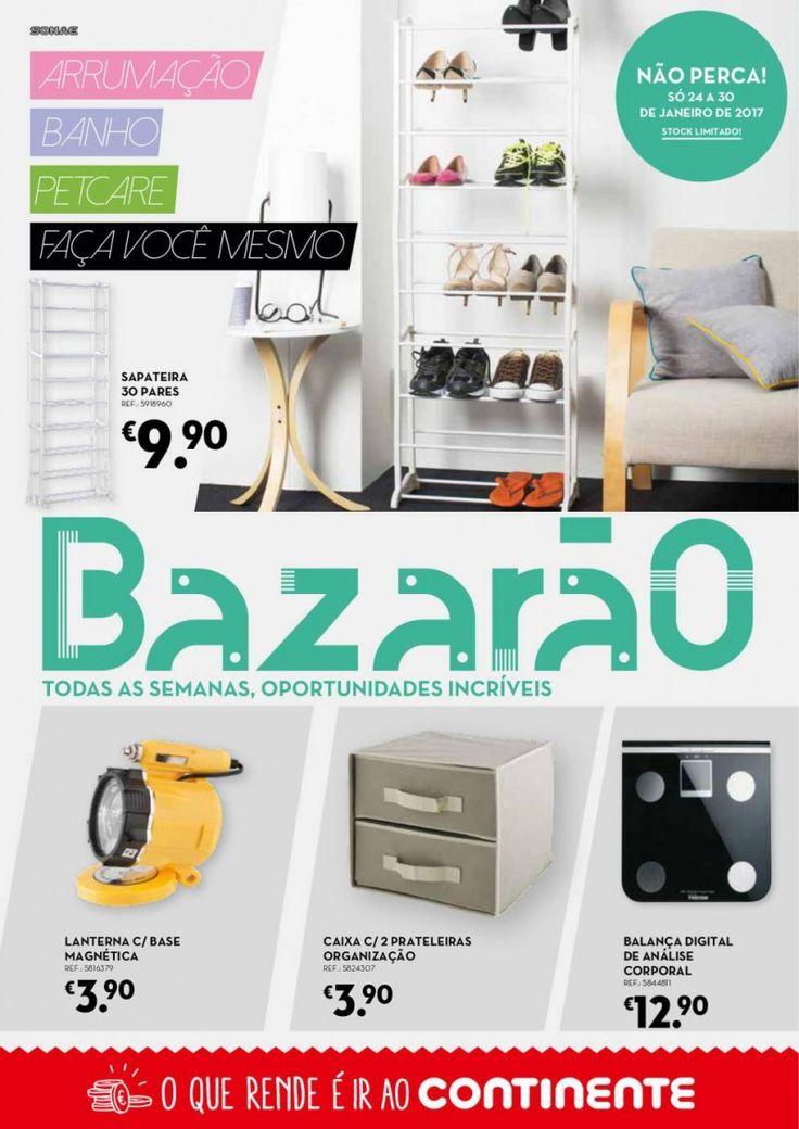 Folheto Continente Bazarão em vigor de 24 a 30 Janeiro #Promoções #Continente