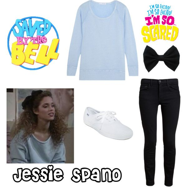 Saved by the Bell: Jessie Spano by daniellejacobs79 on Polyvore featuring polyvore, fashion, style, James Perse, Proenza Schouler, Keds and clothing