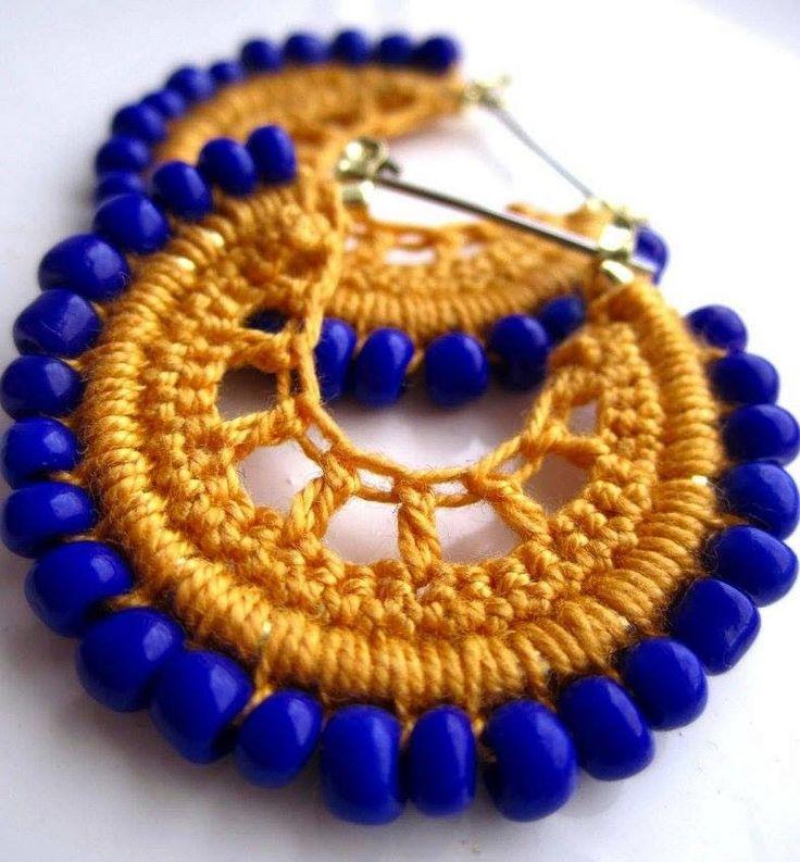 Croché, tricô e outras artes.: Brincos de Croché